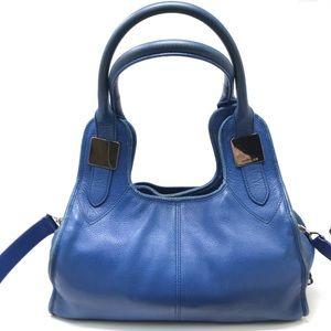 Rachel Zoe Lucas Tote Leather Shopper Sapphire